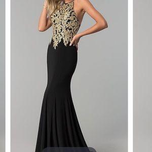 Dresses & Skirts - Black/Gold Prom Dress